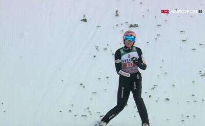 Skok Dawida Kubackiego z 2. serii konkursu w Garmisch-Partenkirchen