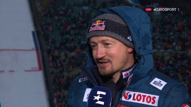 Adam Małysz po konkursie w Innsbrucku