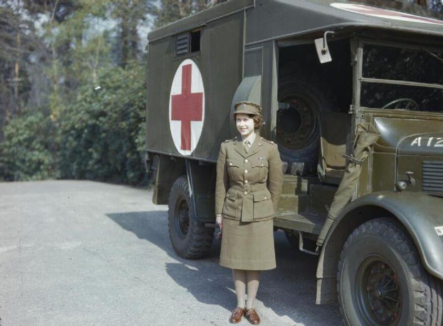 Podczas służby wojskowej w kwietniu 1945
