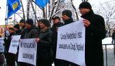 Protest ukraińskich nacjonalistów przed konsulatem RP we Lwowie