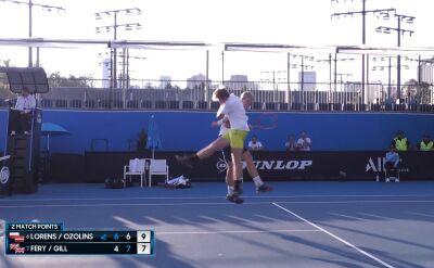 Lorens i Ozolins awansowali do finału debla turnieju juniorskiego w Australian Open