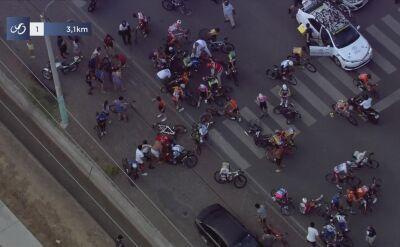 Ogromna kraksa na 1. etapie Vuelta a San Juan
