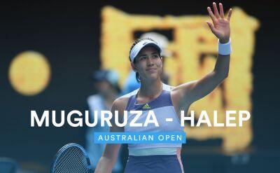 Skrót meczu Halep - Muguruza w półfinale Australian Open