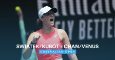 Skrót meczu Świątek/Kubot - Chan/Venus w 2. rundzie miksta w Australian Open