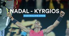 Skrót meczu Nadal - Kyrgios w 4. rundzie Australian Open