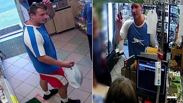 Zapłacił kradzioną kartą, stał twarzą do kamery