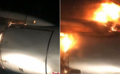 Silnik samolotu stanął w ogniu. Na pokładzie było 200 osób
