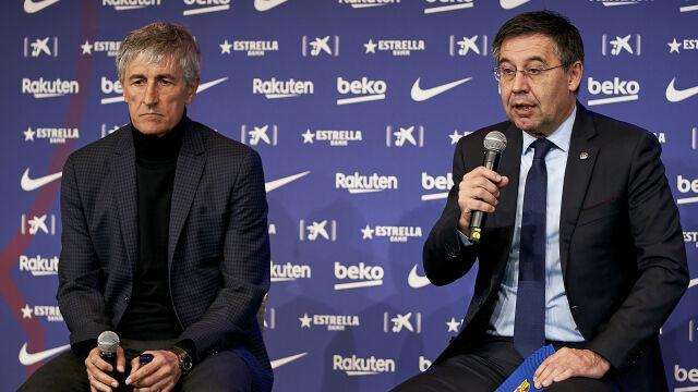Gromy leciały na Quique Setiena. Jest decyzja w sprawie trenera Barcelony