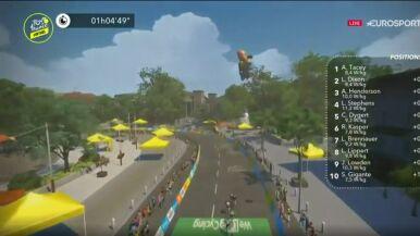Młoda Brytyjka błyszczy w wirtualnym Tour de France. Sprinterzy górą na czwartym etapie