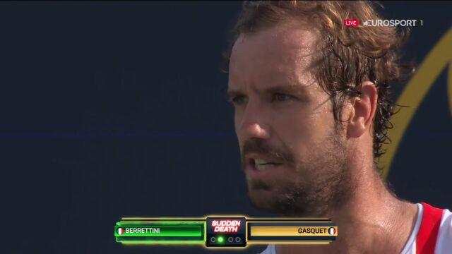 Gasquet zapomniał o zasadach turnieju w najważniejszym momencie półfinału