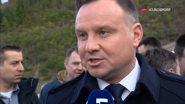 Prezydent Andrzej Duda: trzymamy kciuki za Piotra Żyłę