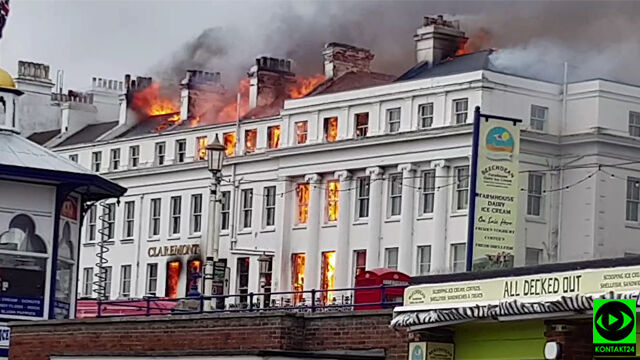 """XIX-wieczny hotel """"pochłonięty przez płomienie"""""""