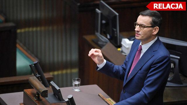 Premier już w Sejmie. Wygłasza expose