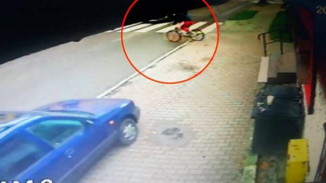Wjechał rowerem wprost pod nadjeżdżające auto