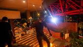 Starcia demonstrantów z policją w Hongkongu