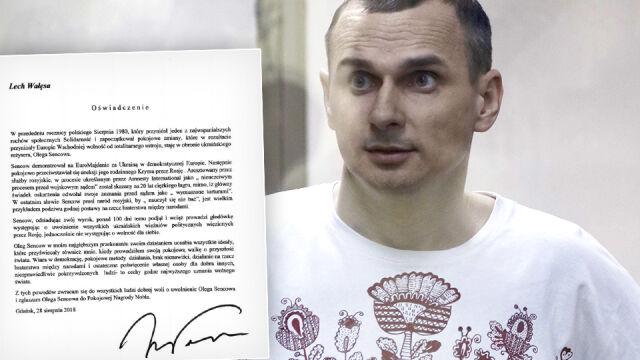 Wałęsa apeluje o uwolnienie Sencowa  i zgłasza go do Pokojowej Nagrody Nobla