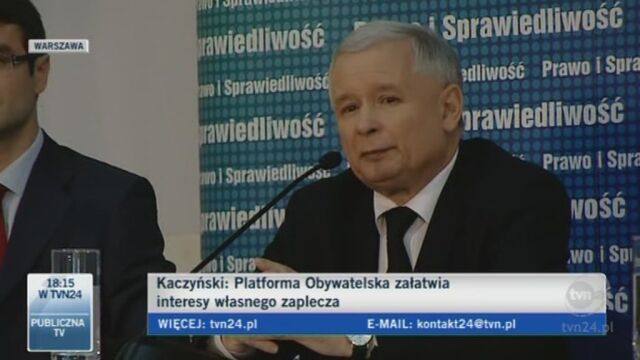 Kaczyński: Polska musi być demokratyczna, prawomocna (TVN24)