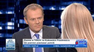 Tusk: krzyż nie na Krakowskim Przedmieściu