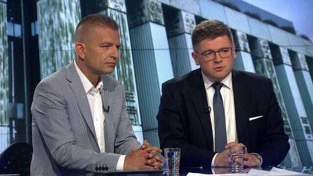 """Tomasz Rzymkowski i Bartosz Arłukowicz w """"Faktach po Faktach"""""""