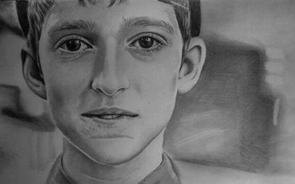 Niepełnosprawny Mariusz Kędzierski tworzy przepiękne rysunki