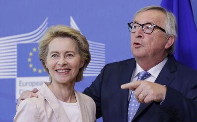 Jean-Claude Juncker i Ursula von der Leyen w Helsinkach