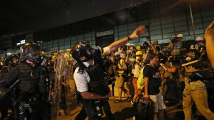 Hongkong protestuje, chińskie media winią Zachód