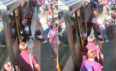 Chłopiec znika pod pociągiem. Nagranie ku przestrodze