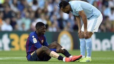 Barcelona może mieć problem po kontuzji Dembele.