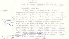 """Depesza Kazimierza Szablewskiego do Józefa Czyrka o kulisach wyboru: """"Przed konklawe nikt nie miał wątpliwości, iż papieżem zostanie Włoch"""", 18 października 1978 r."""