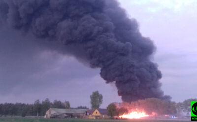 """Ogromny pożar składowiska odpadów. """"Sytuacja nie jest opanowana"""""""