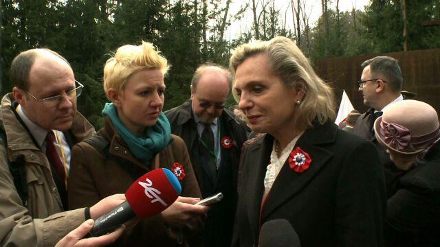 Anna Maria Anders na uroczystościach w Smoleńsku
