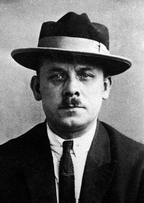 Fritz Haarmann. Zdjęcie z policyjnej kartoteki