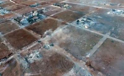 Nagranie bitwy w Syrii z pokładu drona