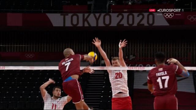 Tokio. Polska – Wenezuela 1. set (5:5)
