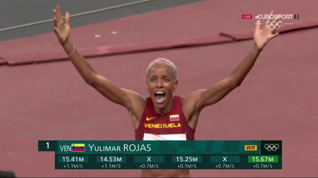 Tokio. Trójskok. Nowy rekord świata i złoto dla Rojas