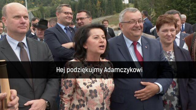 Anna Paluch śpiewa dla ministra