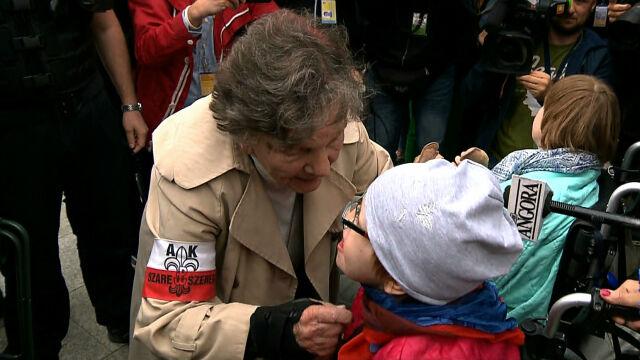 Wanda Traczyk-Stawska spotkała się z protestującymi