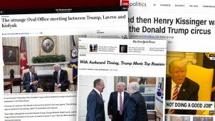 Niezręczność na spotkaniu Trumpa z Ławrowem. Amerykańskie media nie kryją oburzenia