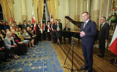 Andrzej Duda spotkał się z Polonią w Paryżu
