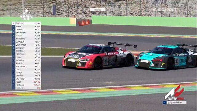 Wielkie emocje w pierwszym wyścigu Audi Eurosport eRacing