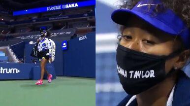 Osaka zaskoczyła, wchodząc na kort.