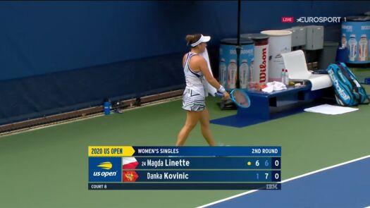 Kovinić wygrała drugiego seta w starciu z Linette w 2. rundzie US Open