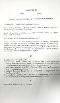 Porozumienie zaproponowane przez rząd