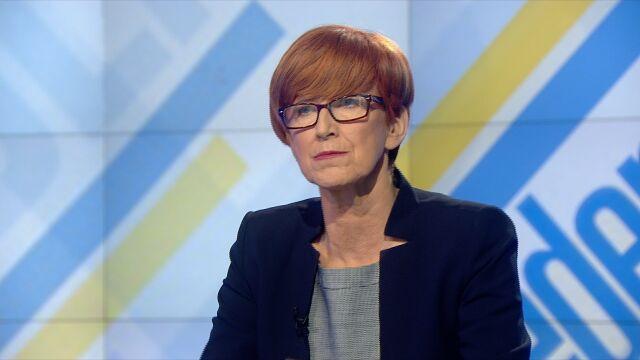"""Elżbieta Rafalska była gościem """"Jeden na jeden"""" w TVN24"""