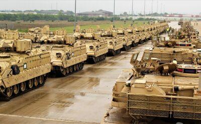 Amerykańska brygada pancerna w drodze do Polski