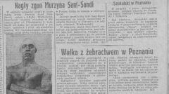 Śmierć Sandiego była szeroko komentowana w ówczesnej prasie.