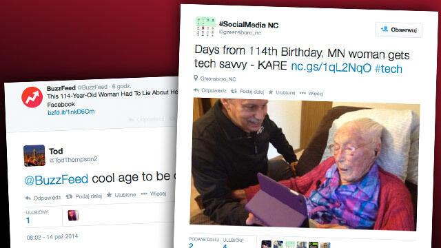 114-latka oszukała system, założyła profil i napisała do Zuckerberga