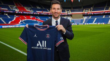 Lionel Messi piłkarzem PSG.