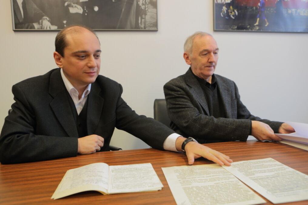 Brudnopis oświadczenia dziennikarzy z sierpnia 1980 r. otrzymało w piątek Europejskie Centrum Solidarności