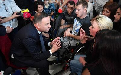 Prezydent przyjechał do Sejmu. Spotkał się z protestującymi rodzicami osób niepełnosprawnych